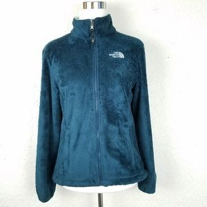 The north face Women jacket size S fleece solid bl